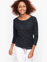 Talbots Cinch Detail Stripe Top