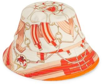 Rani Arabella Belt & Equestrian-Print Canvas Bucket Hat