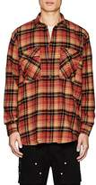 Stampd Men's Plaid Distressed Cotton Shirt