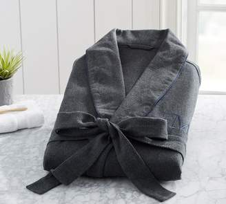 Pottery Barn Vincent Men's Cotton Flannel Robe