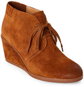 Franco Sarto Cognac Austine Burnished Wedge Booties