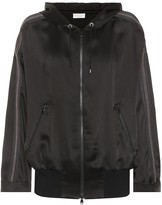 Brunello Cucinelli Hooded satin zip jacket