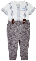 Miniclasix Boys' Tee & French Terry Suspender Pants Set