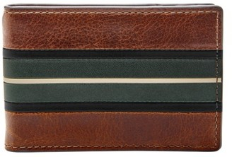 Fossil Ronnie Rfid Money Clip Bifold Wallets Cognac