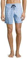 Vilebrequin Moorea Diamond Seahorse Swim Trunks, Sky