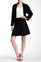 Pink Tartan Wool Blend Flounce Skirt