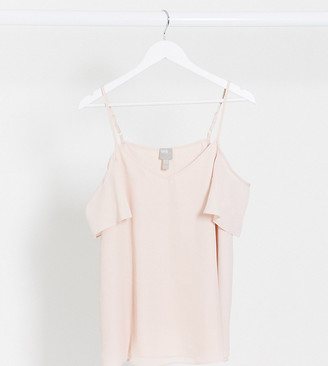 ASOS DESIGN Maternity cold shoulder cami in blush