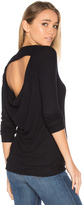 Chaser Long Sleeve Drape Back Raglan Thermal
