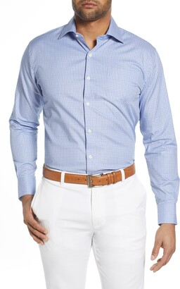 Peter Millar Robinson Gingham Check Button-Up Shirt