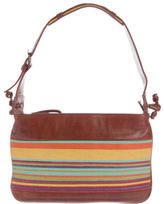 M Missoni Woven Paneled Leather Bag