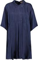 MAISON KITSUNÉ Sara pleated satin-twill mini dress