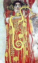 Gustav 1art1 Posters Klimt Poster Art Print - Hygieia (39 x 20 inches)