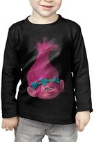 HJHTEH SHIRT Toddler's Movie Trolls Poppy Pink Long Sleeve T-shirts 3 Toddler