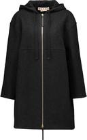 Marni Herringbone wool-blend hooded coat