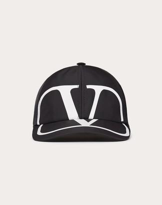 Valentino Garavani Uomo Vlogo Signature Baseball Cap Man Black Polyester 100% 57