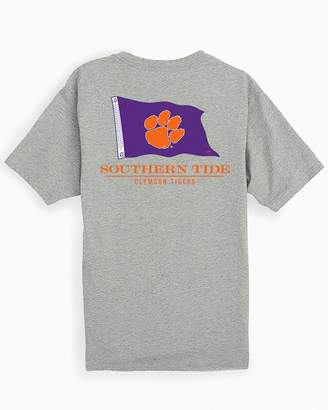 Southern Tide Clemson Tigers Short Sleeve Flag Gameday T-Shirt
