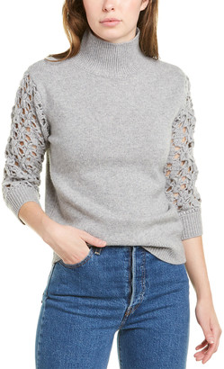 Magaschoni Cashmere & Wool-Blend Sweater