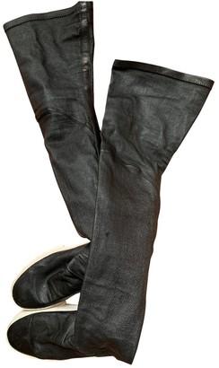 Cinzia Araia Black Leather Boots