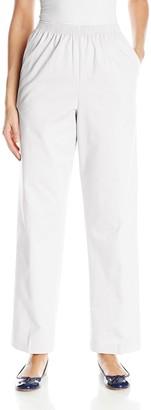 Alfred Dunner Women's Medium Twill Pants All Around Elastic Waist Cotton