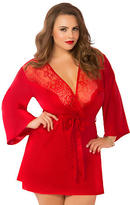 Seven Til Midnight Seven 'til Midnight Toast Of The Town Satin Robe Plus Size
