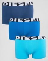 Diesel Solid Trunks 3 Pack Blue