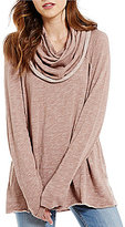 Free People Beach Cotton Cowl Neck Pullover Sweater