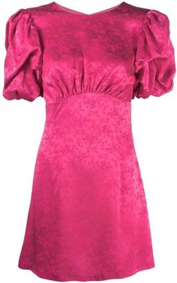 Andamane Floral-Print Puff-Sleeve Dress