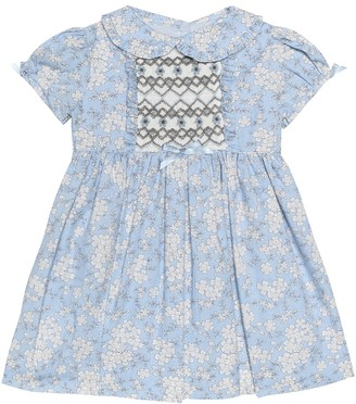 Rachel Riley Baby floral cotton dress and bloomer set