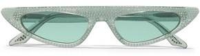 Cat Eye Andy Wolf Florence Crystal-embellished Cat-eye Acetate Sunglasses