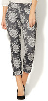 New York & Co. 7th Avenue Pant - Pull-On Cuffed Ankle - Modern - Floral