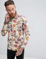 Asos Skinny Shirt With Floral Print