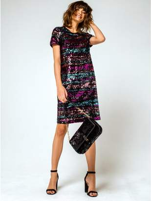 M&Co Rainbow sequin dress