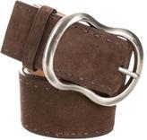 Prada Suede Buckle Belt