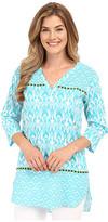 Hatley Turquoise Ikat Women's Beach Tunic