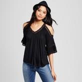 Cliche Women's Crochet Cold Shoulder Blouse