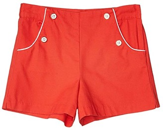 Janie and Jack Flat Front Shorts (Toddler/Little Kids/Big Kids) (Red) Girl's Shorts