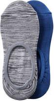 Joe Fresh Women's 2 Pack No-Show Socks, Grey (Size O/S)