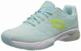 Lotto Women's Mirage 300 Clay Tennisschuhe Damen Clearwater/All White (40.5 EU) Tennis Shoes 7 UK