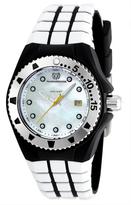 Technomarine Mother-of-Pearl & White Cruise Locker Silicone Watch