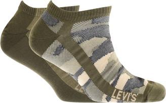 Levi's Levis Camo Low Cut 2 Pack Socks Khaki