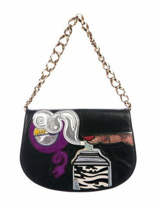 Marc Jacobs Leather Patchwork Shoulder bag Black