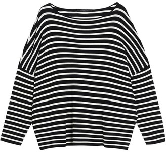 Max Mara Striped Batwing-Sleeve Sweater