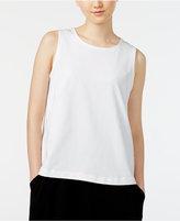 Eileen Fisher Organic Cotton Shell, Regular and Petite
