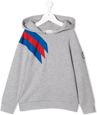 Gucci Kids hooded sweatshirt with brand patch