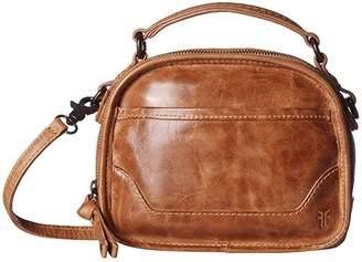 Frye Melissa Top-Handle Crossbody (Beige) Handbags