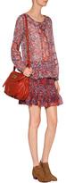 Anna Sui Silk Print Top in Poppy Multi