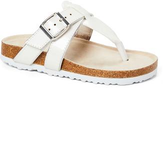 Rampage Girls' Sandals WHITE - White Crisscross T-Strap Sandal - Girls