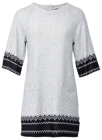 Dorothy Perkins Womens *Izabel London Grey Fairisle Print Shift Dress, Grey