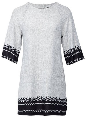 Dorothy Perkins Womens *Izabel London Grey Fairisle Print Shift Dress, Grey