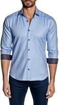 Jared Lang Solid Long Sleeve Trim Fit Shirt